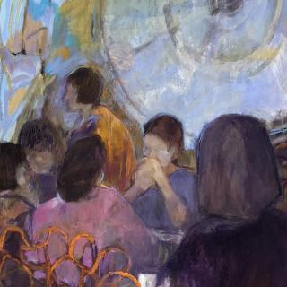 Café Campana au musée d'Orsay  54,5x120  h/c
