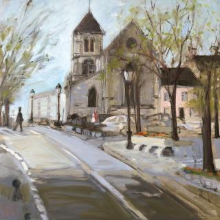 Rue de l'Abbaye Saint-Maur des Fossés   72x72  h/c