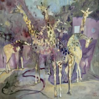 Girafes 90x90 h/t